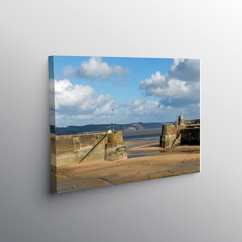 Saundersfoot Harbour and Beach Pembrokeshire, Canvas Print