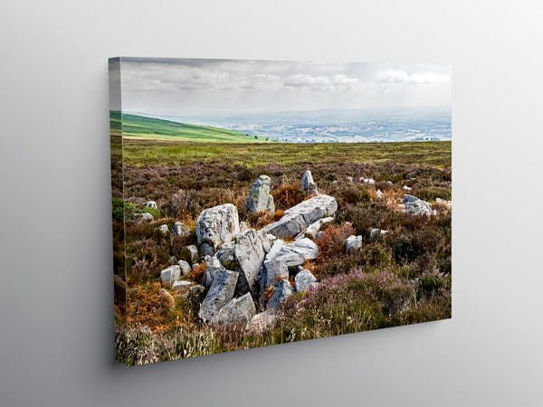 View from the Blorenge Hill towards Herefordshire, Canvas Print