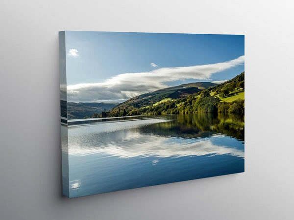 Talybont Reservoir in Autumn, Canvas Print