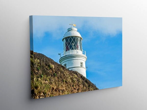 Nash Point Lighthouse Glamorgan Heritage Coast, Canvas Print
