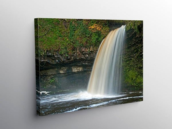 Scwd Gwladus Waterfall Vale of Neath, Canvas Print
