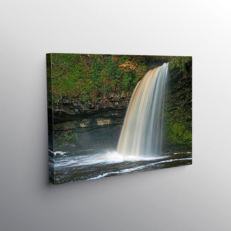 Scwd Gwladus Waterfall Vale of Neath, Canvas Print