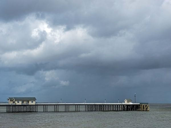 Penarth Pier on a Stormy Day