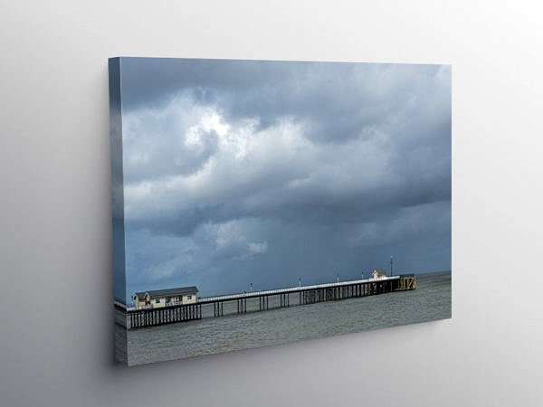 Penarth Pier on a Stormy Day, Canvas Print