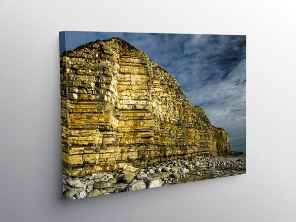 Cliffs Llantwit Major Beach Glamorgan Heritage Coast, Canvas Print