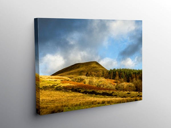Torpantau Brecon Beacons South Wales December, Canvas Print