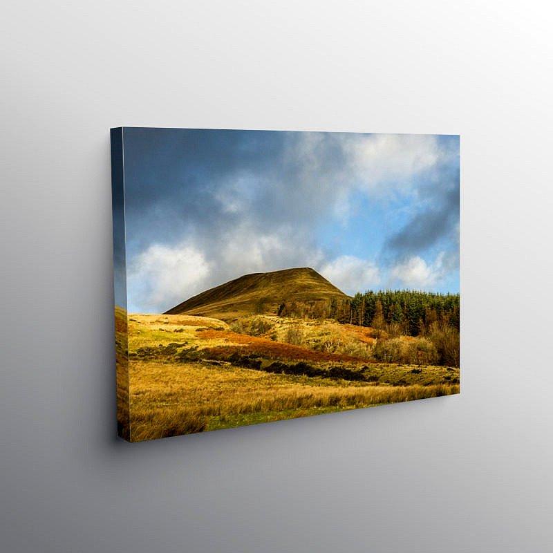 Torpantau Brecon Beacons South Wales December, Canvas Print