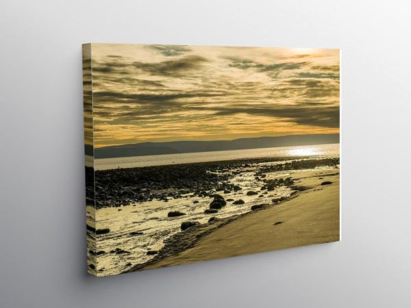 Llantwit Major Beach Winter Afternoon, Canvas Print