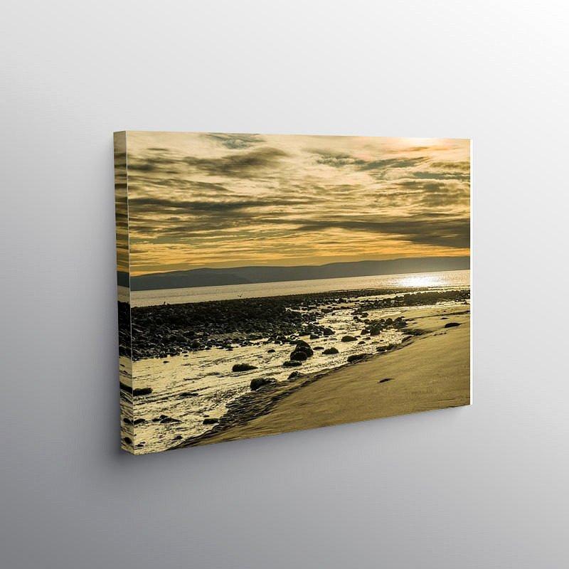 Llantwit Major Beach Winter Afternoon, Canvas Print