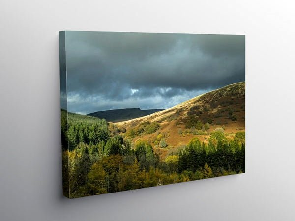 Allt Forgan Hill Central Brecon Beacons, Canvas Print