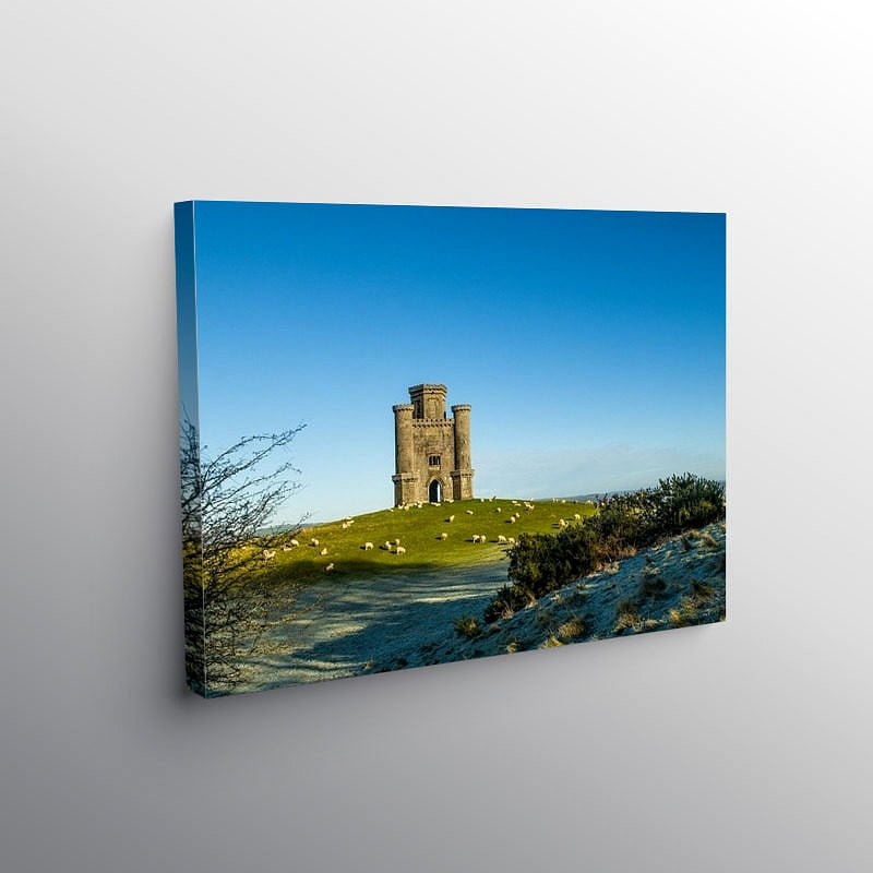Paxtons Tower Carmarthenshire on a frosty day, Canvas Print