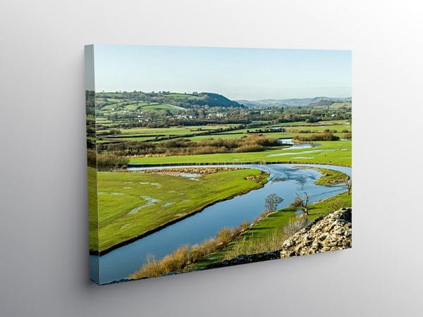 The Tywi Valley Below Dryslwyn Castle, Canvas Print