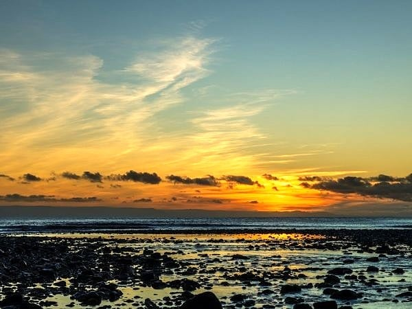Sunset Over Llantwit Major Beach