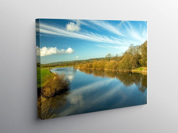 The River Tywi in Carmarthenshire, Canvas Print