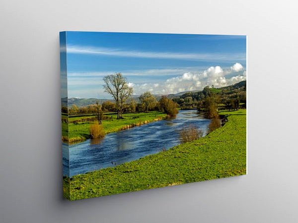 River Tywi in Carmarthenshire, Canvas Print