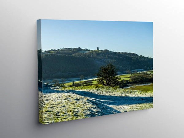 Paxtons Tower from Dryslwyn Castle, Canvas Print