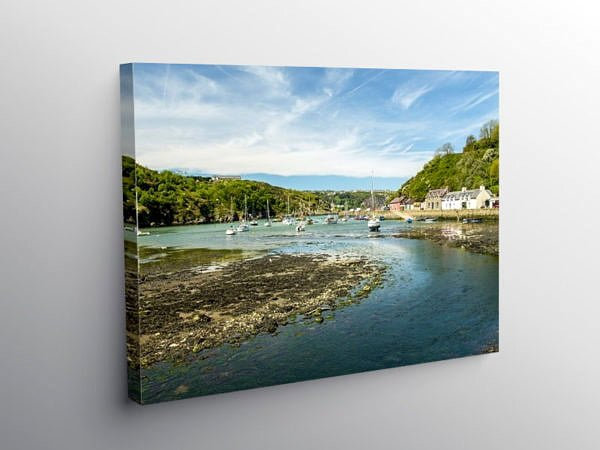 Lower Fishguard or Abergwaun Pembrokeshire, Canvas Print