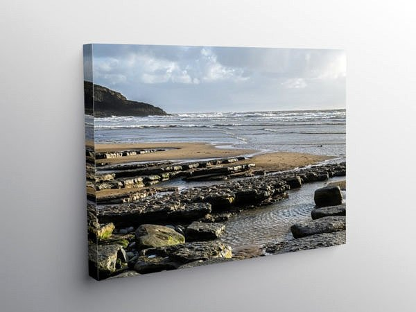 Dunraven Bay on a Cold February Afternoon, Canvas Print