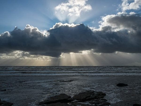 Sunbeams over Dunraven Bay