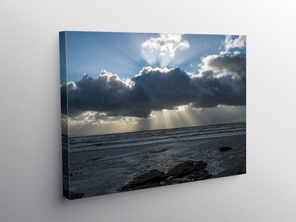 Sunbeams over Dunraven Bay, Canvas Print