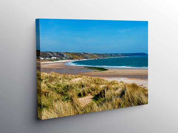 Port Eynon Bay Gower Peninsula, Canvas Print