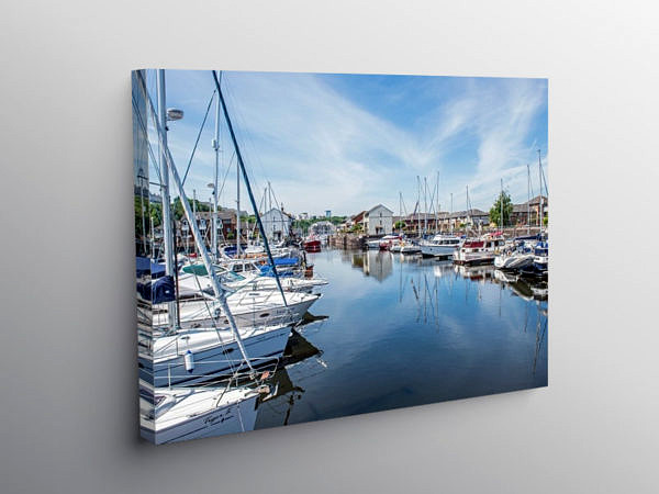 Penarth Marina South Wales, Canvas Print
