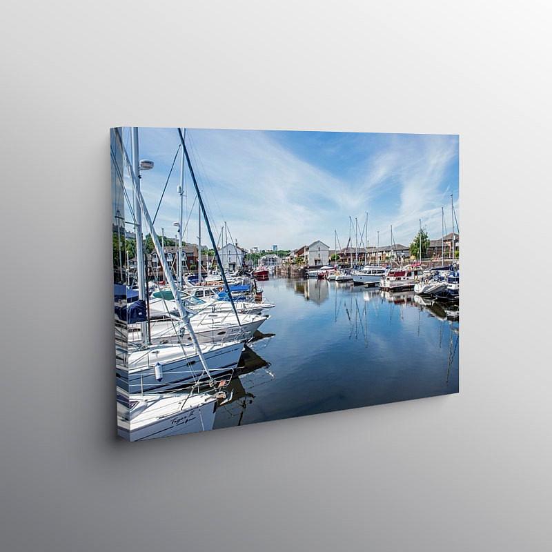 Penarth Marina South Wales, Canvas Print