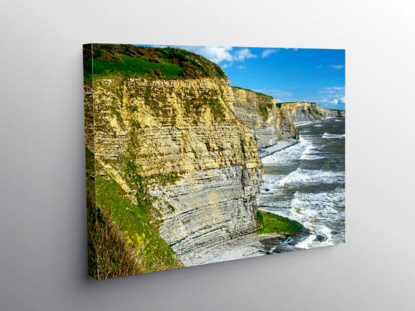 The Cliffs of the Glamorgan Heritage Coast, Canvas Print