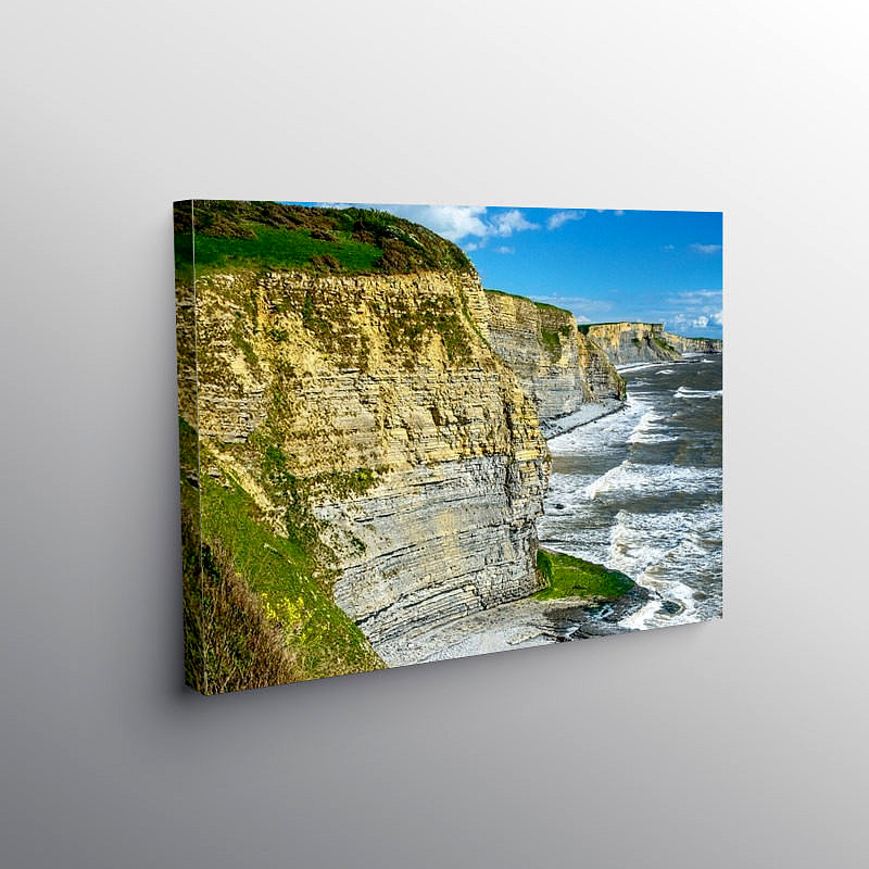 The Cliffs of the Glamorgan Heritage Coast, Canvas Print