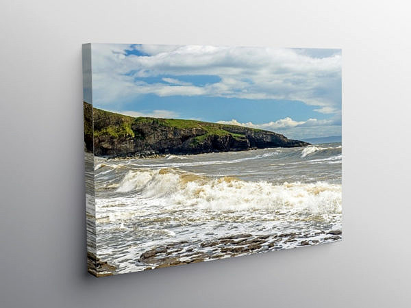 Dunraven Bay and Witch's Point, Canvas Print