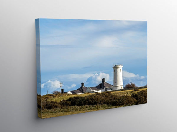 The Old Nash Point Lighthouse Glamorgan Heritage Coast, Canvas Print