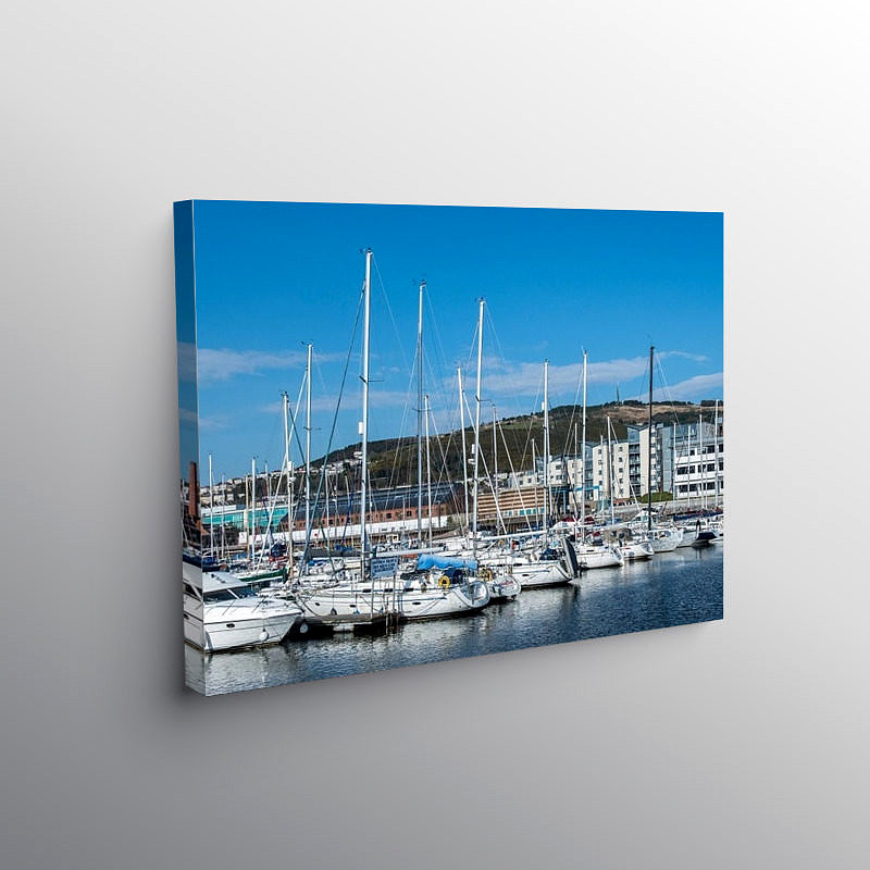 Swansea Marina South Wales, Canvas Print