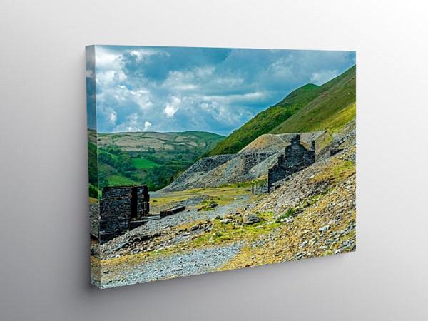 Cwmystwyth Old Lead Mines Ceredigion, Canvas Print