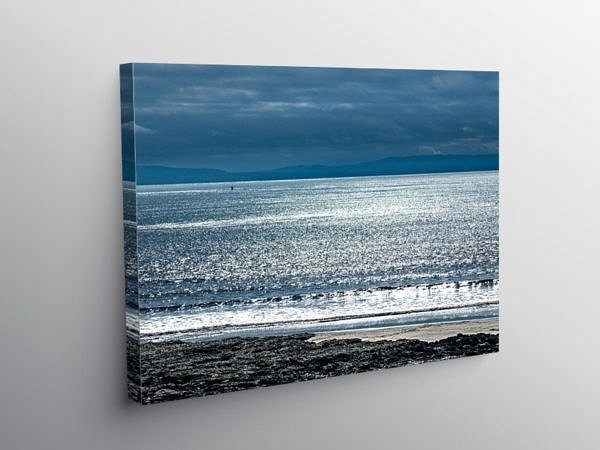 Bristol Channel from Watch House Bay Barry Island, Canvas Print