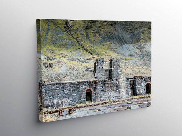 The Old Lead Mines Cwm Ystwyth, Canvas Print