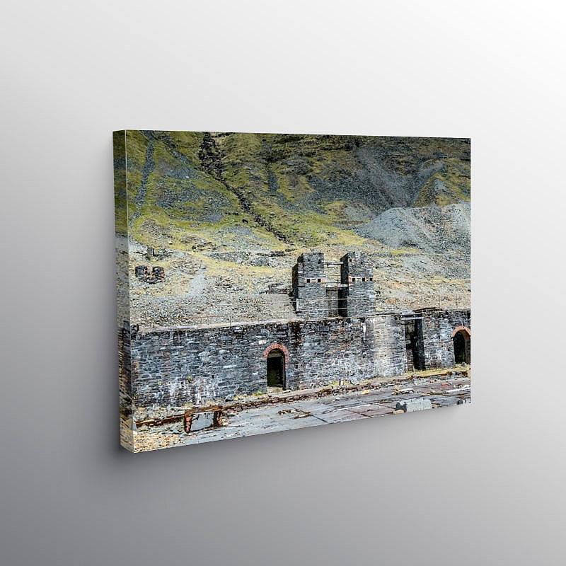 The Old Lead Mines Cwm Ystwyth, Canvas Print