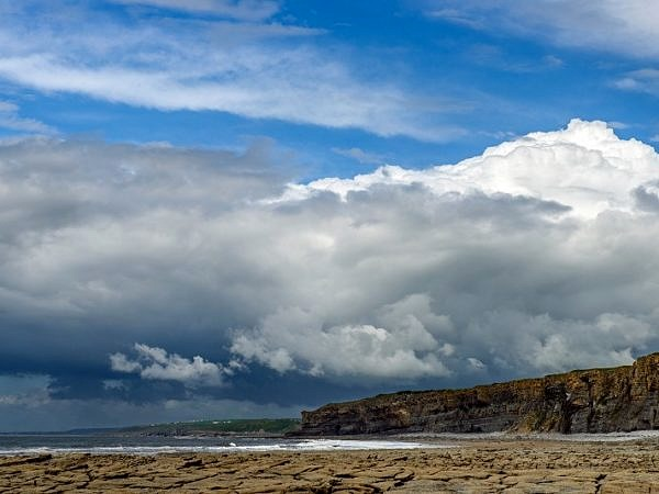 Clouds over Nash Point Beach Glamorgan Coast