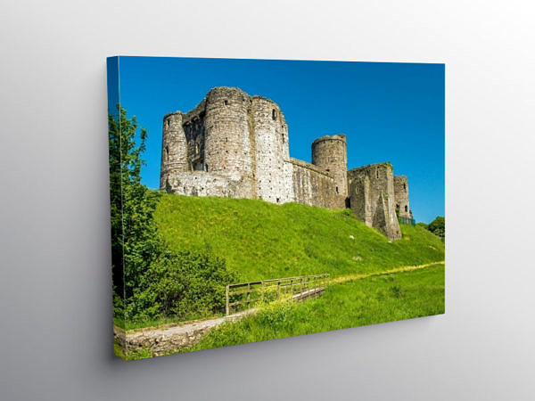 Kidwelly Castle Carmarthenshire West Wales, Canvas Print