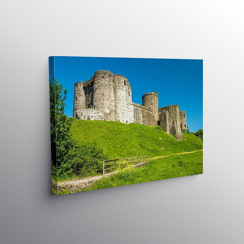Kidwelly Castle Carmarthenshire West Wales, Canvas Print
