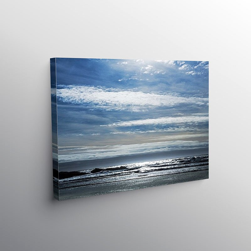 Dunraven Bay under a February Sky, Canvas Print