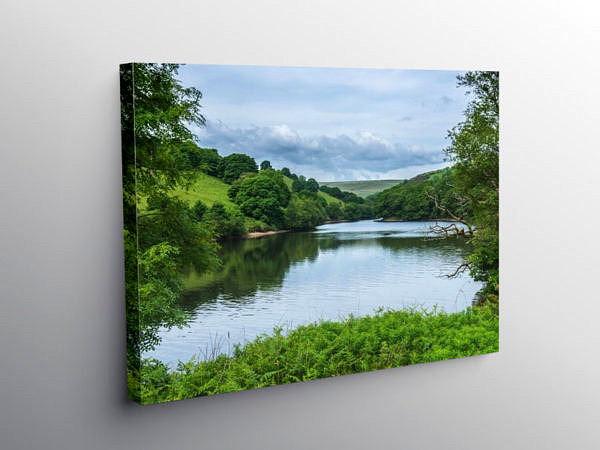 Lower Lliw Valley Reservoir Swansea, Canvas Print