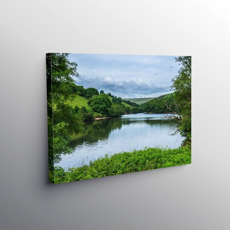 Lower Lliw Valley Reservoir Swansea, Canvas Print