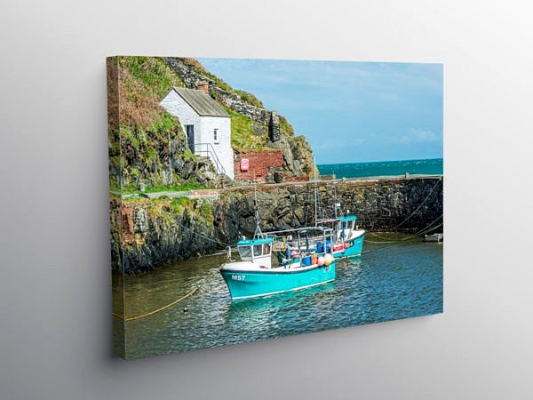 Porthgain Harbour north Pembrokeshire, Canvas Print