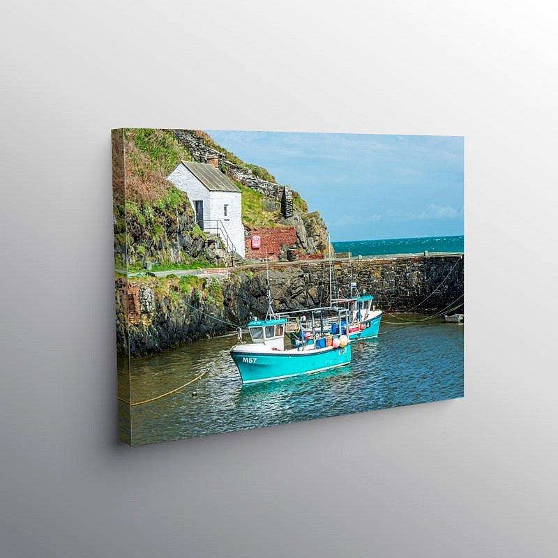 Porthgain Harbour north Pembrokeshire, Canvas Print