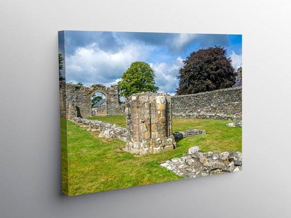 Strata Florida Abbey Pontrhydfendigaid Ceredigion, Canvas Print