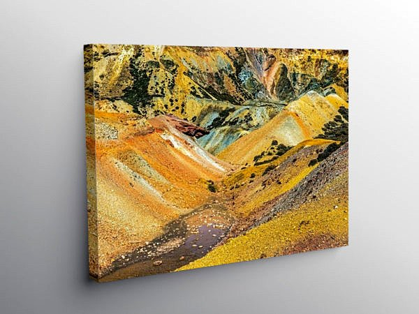 Parys Mountain Copper Mining Anglesey, Canvas Print