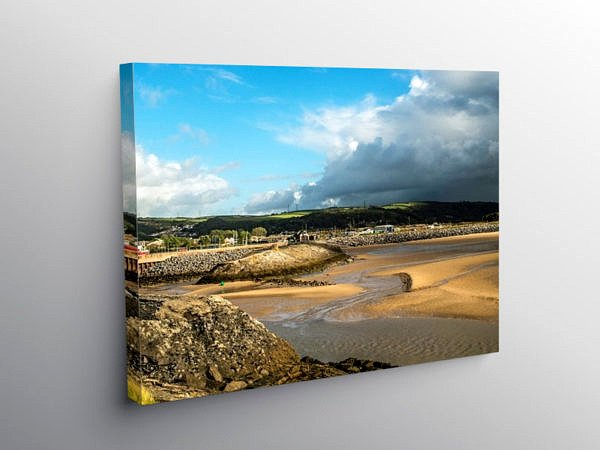Burry Port Beach Carmarthenshire, Canvas Print