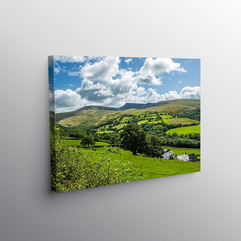 The Black Mountain Brecon Beacons, Canvas Print