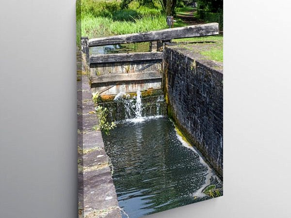 Vale of Neath Canal Resolven, Canvas Print