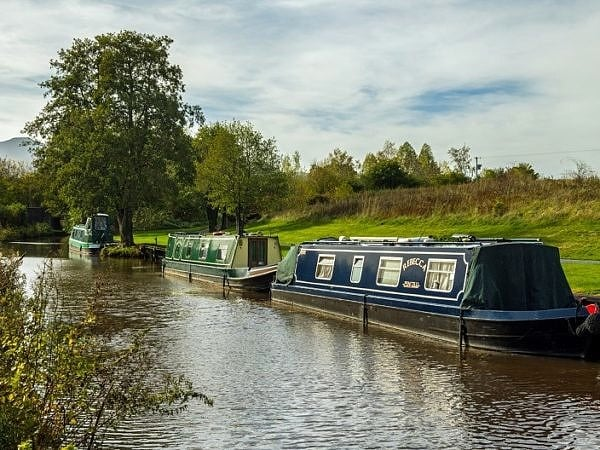 Narrowboats Monmouth and Brecon Canal at Pencelli